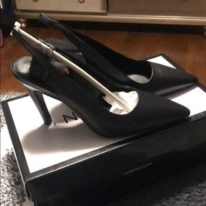 Nine West Point Toe Slingback Pumps